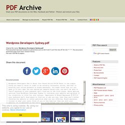 Wordpress Developers Sydney .pdf - PDF Archive