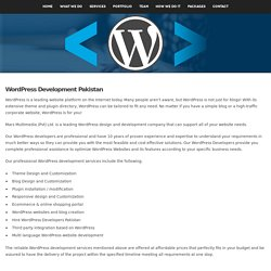 Top WordPress Developers in Pakistan