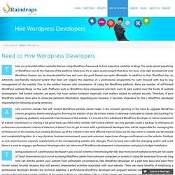 Hire WordPress Developers– Raindrops InfoTech
