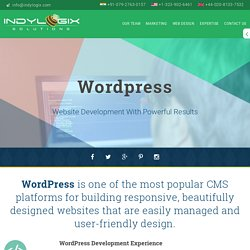 Custom Wordpress Web Development Company - IndyLogix