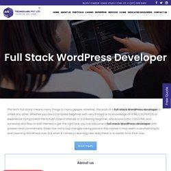 Full Stack Wordpress Developer - Full Stack Wordpress Development