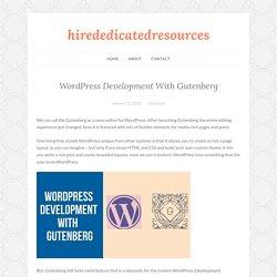 WordPress Development With Gutenberg