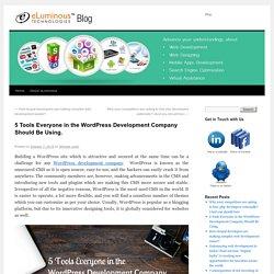 5 Tools for WordPress Development Company