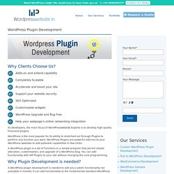 WordPress Plugin Customization Services