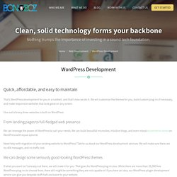 Wordpress Development Company in India, Custom Wordpress Theme and Plugin - Bonoboz