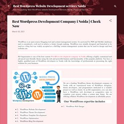 Best Wordpress Development Company i Noida
