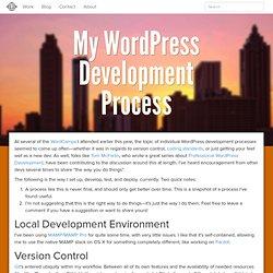 My WordPress Development Process - Logos Creative