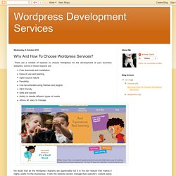 Why And How To Choose Wordpress Services?