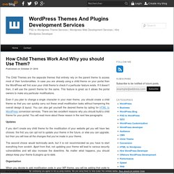 How Child Themes Work And Why you should Use Them? - WordPress Themes And Plugins Development Services