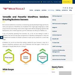 WordPress Website Development Services @ WebTecz.com