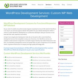 WordPress Development Services: Custom WP Website Development Company