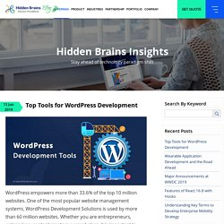 Top 10 WordPress Development Tools