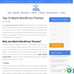 Top 10 Blank WordPress Themes - Digital Marketing Course in Dwarka