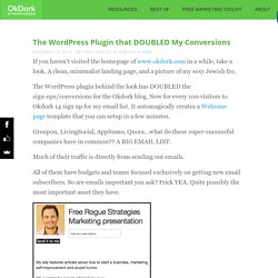 The Wordpress Plugin that DOUBLED My Conversions