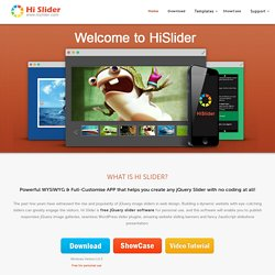 Free HTML5, jQuery & WordPress Image Slider Gallery Maker Download - Hislider.com