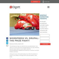 Wordpress vs. Drupal: The Prize Fight!