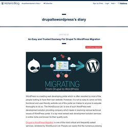 An Easy and Trusted Doorway For Drupal To Wordpress Migration