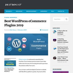 Best WordPress eCommerce Plugins 2019