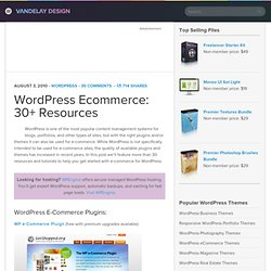 WordPress Ecommerce: 30+ Resources