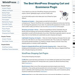The Best WordPress Shopping Cart and Ecommerce Plugin