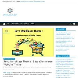 Revo WooCommerce Theme Installation