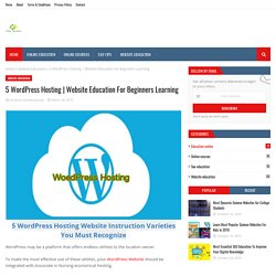 Website Education For Beginners Learning
