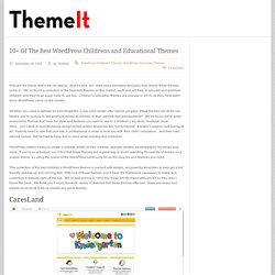 wordpress kids and educational themes