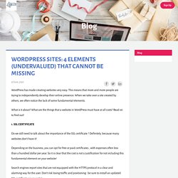WORDPRESS SITES: 4 ELEMENTS (UNDERVALUED) THAT CANNOT BE MISSING