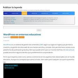 Wordpress en entornos educativos