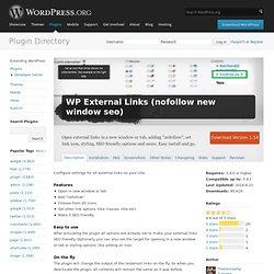 WP External Links (nofollow new window seo)