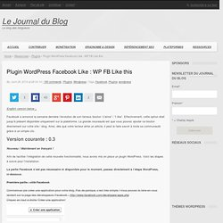 Plugin Wordpress Facebook Like : WP FB Like this