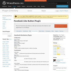 Facebook Like Button Plugin