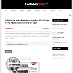Get Some Aparatus - Free Theme for Wordpress | Fearless Flyer Web Design