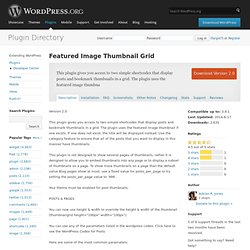 Featured Image Thumbnail Grid