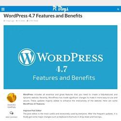 WordPress 4.7 Features and Benefits – Piblog