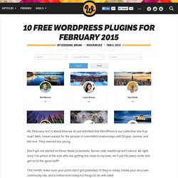 10 free WordPress plugins for February 2015