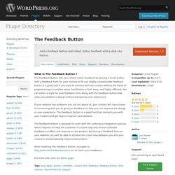 WordPress › The Feedback Button « WordPress Plugins