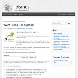 Wordpress File Upload