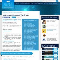 Trouver un thème Wordpress par type, par sujet ou par fonctionnalités