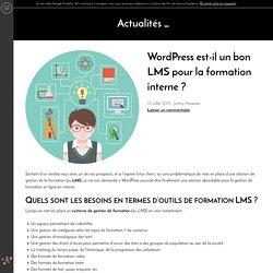 Wordpress est-il un bon LMS pour la formation interne ?