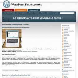 WordPress Francophone : Planet