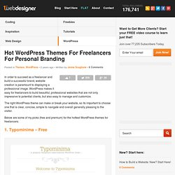 Hot WordPress Themes For Freelancers For Personal Branding