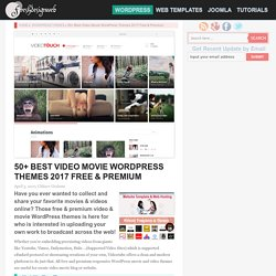 50+ Best Video Movie WordPress Themes 2017 Free & Premium - freshDesignweb