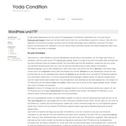WordPress und FTP – Yoda Condition