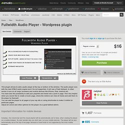 pleine chasse Audio Player - Plugin Wordpress