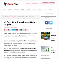 10 Best WordPress Image Gallery Plugins - CodeFear