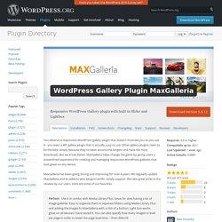 WordPress Gallery Plugin MaxGalleria — WordPress Plugins