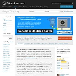 Genesis Widgetized Footer