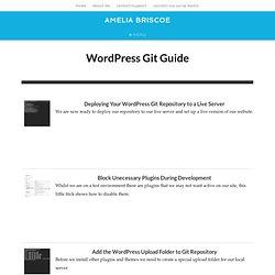 WordPress Git Tutorials