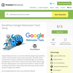 WordPress Google Webmaster Tools setup in $15 only
